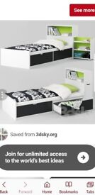 Ikea flaxa single bed