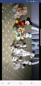 Collection of Disney figures