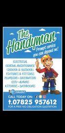 Handyman – Painter/Decorator/Plumbing/Flat Pack/Electrics/TV Brackets/CCTV/Bathroom/Kitchen