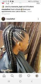 15% off Braids, Afro hairstyles, goddess braids, hackney braider