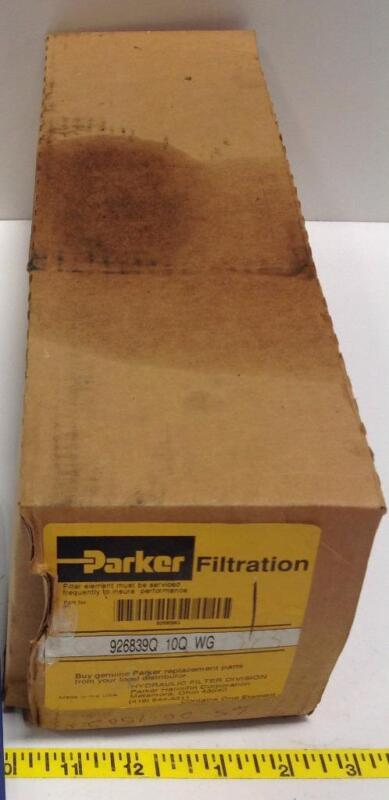 PARKER HYDRAULIC FILTER ELEMENT NIB 926839Q 10Q WG