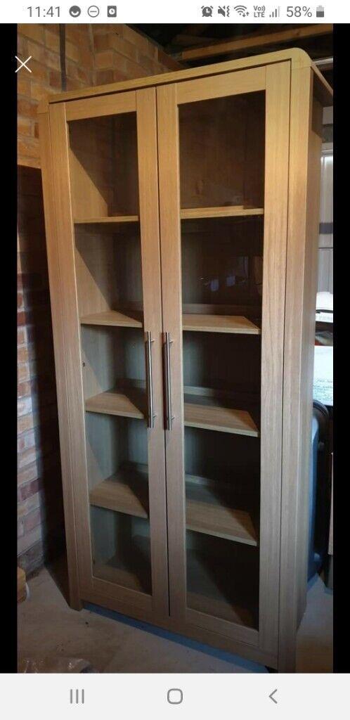 3 pieces living room furniture set oak effect  in