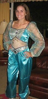 Disney Halloween Sexy Adult Arabian Princess Jasmine COSTUME Dress Medium M 6 8 - Princess Jasmine Costume Adults