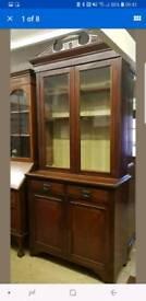 Edwardian bookcase cupboard
