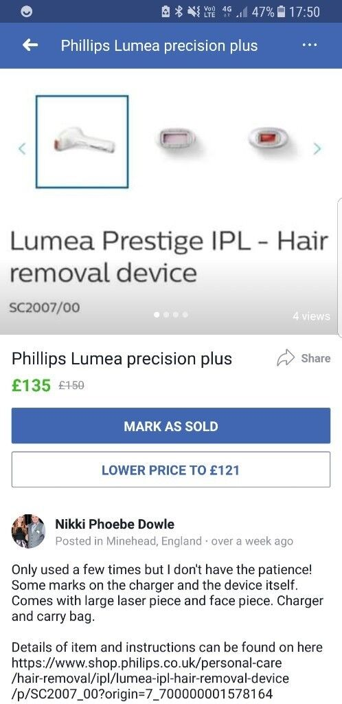 Lumea precusion laser hair removal