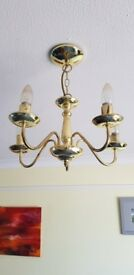 Classic gold coloured light fitting x2