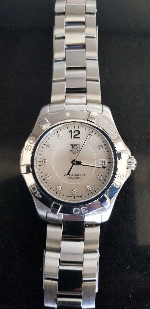 Tag Heuer Aquaracer WAF1115 Mother of Pearl Diamond Dot Dial 2000-2009