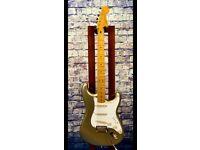 Squire 60th anniversary gold stratocaster