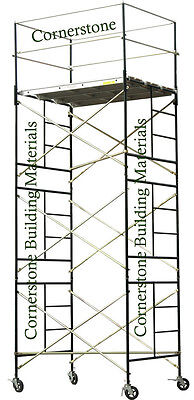 Heavy Duty Scaffold Rolling Tower 5 X 7 X 15 Standing Deck High W Railing