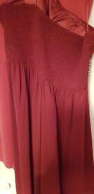 Quiz red dress size 16