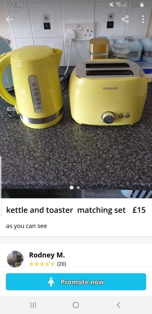 Yellow toaster kettle | in Ryton, Tyne and Wear | Gumtree