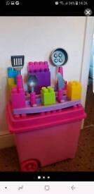 Kids lego toy box