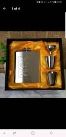 Jack Daniels hip flask gift set
