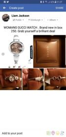 Womans gucci watch brand new with reciept