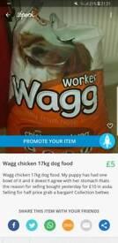 Wagg 17kg chicken dog food
