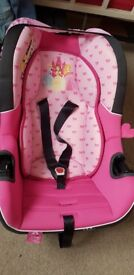 DISNEY PRINCESS BABY CAR SEAT OFFERS ACCEPTED