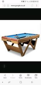 6ft riley duluxe pool table