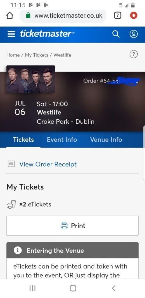 Westlife Tickets - Dublin Croke Park | in Knightswood, Glasgow | Gumtree