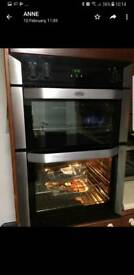 Belling freestanding double oven. Fan assisted