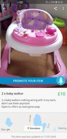 2x baby walkers