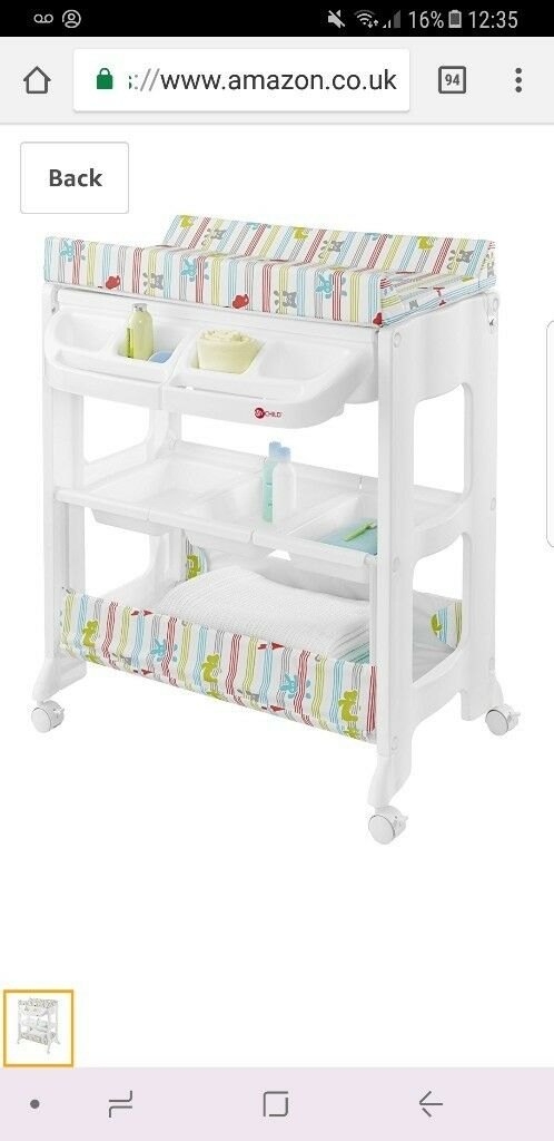 Nearly new baby changing table