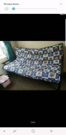Sofa bed with metal frame and removable mattress
