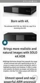 VU+ Solo 4K 2xDVB-S2 FBC PVR Twin Linux & 1 TB HDD