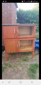 Hand made never been used double rabbit hutch