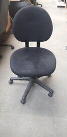 Black Office Chair On Castors