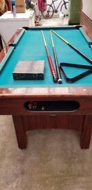 Pool table and snooker table