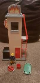 Fireman Sam fire training tower with figure and accessories