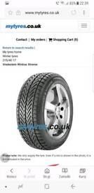 4x 215 40 r17 Winter tyres polo gti fiesta st audi a1