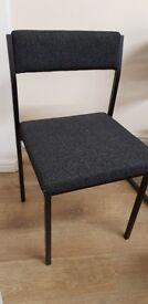 Chairs x 6 black fabric