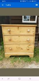 Victorian Rustic Solid Pine chest of drawers