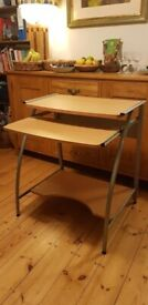 Free desk with pull out table/keyboard rest