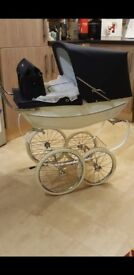 beautiful silver cross dolls pram