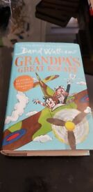 David Walliams book grandpas great escape, used but great condition. Hard back book.