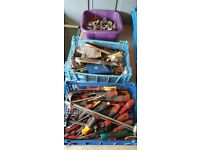 JOBLOT OF MIX TOOLS AND SPANNERS