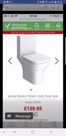 Brand new victoria plumbing toilet and citrean