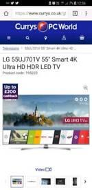 HD 4K LED ULTRA TV 55 INCH SMART