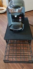 Bosch Suny Tassimo Coffee Machine, Plus Stand and pod holder was £120 selling for £40