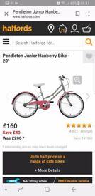 Halfords pendleton girls bike