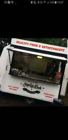 Catering, burger van with tow vehicle