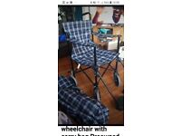 Foldaway wheelchair with carry bag