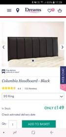 King size 5ft Headboard black faux leather Dreams columbia