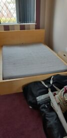 IKEA MALM DOUBLE BED FRAME AND MATTRESS.