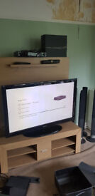 """50"""" Plasma TV and DVD surround sound for sale with stand"""
