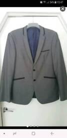 Burton mens/boys grey suit