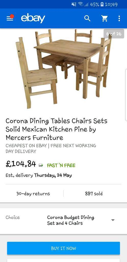 6bee55a15f4 Corona Dining Table   Chairs