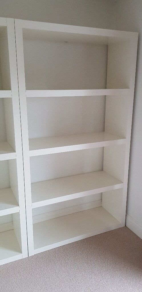 Ikea LACK white shelf unit - 2 available